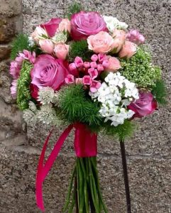 bouquet en fucsia