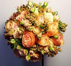 bouquet tonos ocre